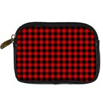 Lumberjack Plaid Fabric Pattern Red Black Digital Camera Cases Front