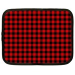Lumberjack Plaid Fabric Pattern Red Black Netbook Case (XL)  Front