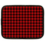 Lumberjack Plaid Fabric Pattern Red Black Netbook Case (XXL)  Front