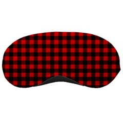 Lumberjack Plaid Fabric Pattern Red Black Sleeping Masks