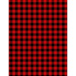 Lumberjack Plaid Fabric Pattern Red Black Large Memo Pads 4.125 x5.5  Memopad