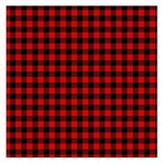 Lumberjack Plaid Fabric Pattern Red Black Small Memo Pads 3.75 x3.75  Memopad