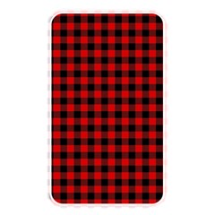 Lumberjack Plaid Fabric Pattern Red Black Memory Card Reader