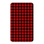 Lumberjack Plaid Fabric Pattern Red Black Memory Card Reader Front