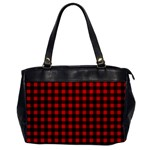 Lumberjack Plaid Fabric Pattern Red Black Office Handbags Front