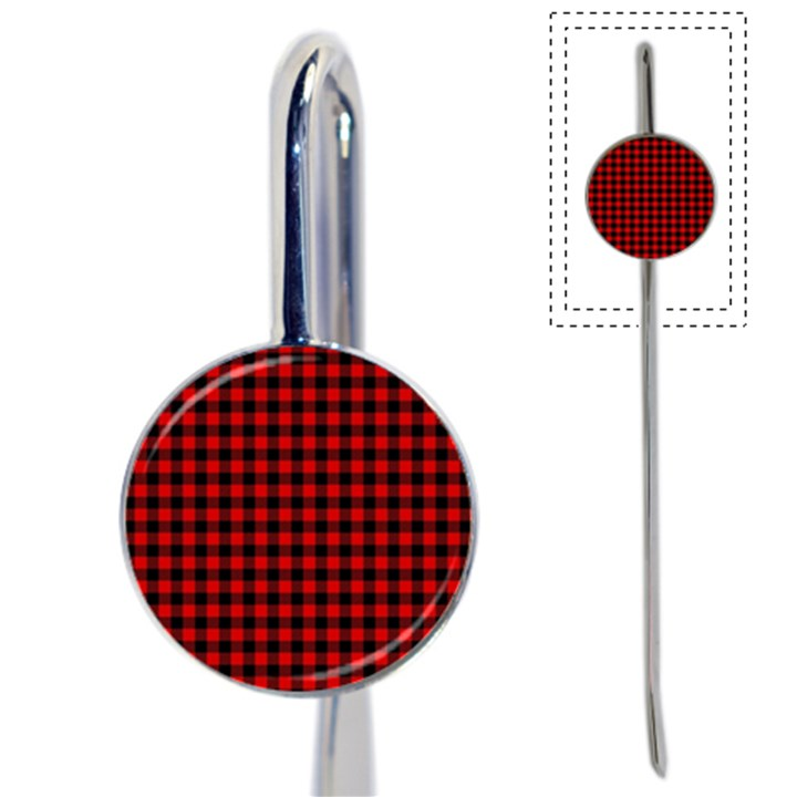 Lumberjack Plaid Fabric Pattern Red Black Book Mark