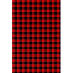Lumberjack Plaid Fabric Pattern Red Black 5.5  x 8.5  Notebooks