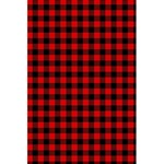 Lumberjack Plaid Fabric Pattern Red Black 5.5  x 8.5  Notebooks Back Cover Inside