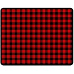 Lumberjack Plaid Fabric Pattern Red Black Fleece Blanket (Medium)  60 x50 Blanket Front