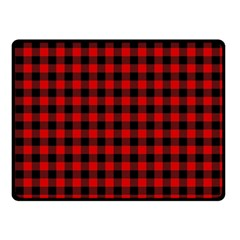 Lumberjack Plaid Fabric Pattern Red Black Fleece Blanket (small)
