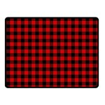 Lumberjack Plaid Fabric Pattern Red Black Fleece Blanket (Small) 50 x40 Blanket Front