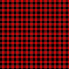 Lumberjack Plaid Fabric Pattern Red Black Magic Photo Cubes