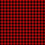 Lumberjack Plaid Fabric Pattern Red Black Magic Photo Cubes Side 3