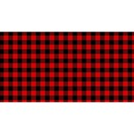 Lumberjack Plaid Fabric Pattern Red Black Magic Photo Cubes Long Side 1