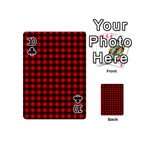 Lumberjack Plaid Fabric Pattern Red Black Playing Cards 54 (Mini)  Front - Club10