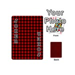 Lumberjack Plaid Fabric Pattern Red Black Playing Cards 54 (Mini)  Front - Joker1