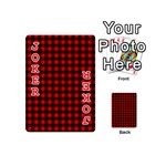 Lumberjack Plaid Fabric Pattern Red Black Playing Cards 54 (Mini)  Front - Joker2