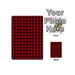 Lumberjack Plaid Fabric Pattern Red Black Playing Cards 54 (Mini)  Back