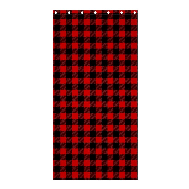 Lumberjack Plaid Fabric Pattern Red Black Shower Curtain 36  x 72  (Stall)