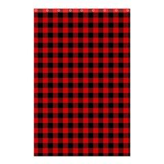 Lumberjack Plaid Fabric Pattern Red Black Shower Curtain 48  x 72  (Small)