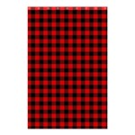 Lumberjack Plaid Fabric Pattern Red Black Shower Curtain 48  x 72  (Small)  42.18 x64.8 Curtain