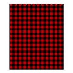 Lumberjack Plaid Fabric Pattern Red Black Shower Curtain 60  x 72  (Medium)