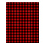 Lumberjack Plaid Fabric Pattern Red Black Shower Curtain 60  x 72  (Medium)  54.25 x65.71 Curtain