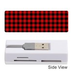 Lumberjack Plaid Fabric Pattern Red Black Memory Card Reader (Stick)  Front