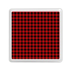 Lumberjack Plaid Fabric Pattern Red Black Memory Card Reader (Square)