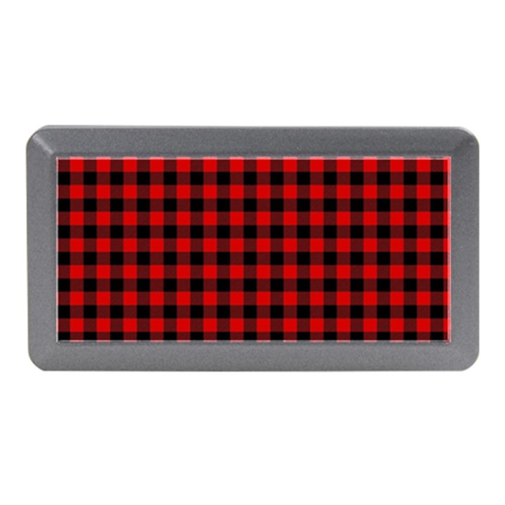 Lumberjack Plaid Fabric Pattern Red Black Memory Card Reader (Mini)