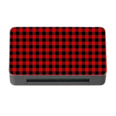 Lumberjack Plaid Fabric Pattern Red Black Memory Card Reader with CF