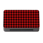 Lumberjack Plaid Fabric Pattern Red Black Memory Card Reader with CF Front