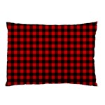 Lumberjack Plaid Fabric Pattern Red Black Pillow Case (Two Sides) Front