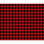 Lumberjack Plaid Fabric Pattern Red Black Deluxe Canvas 14  x 11  14  x 11  x 1.5  Stretched Canvas