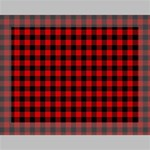 Lumberjack Plaid Fabric Pattern Red Black Deluxe Canvas 16  x 12   16  x 12  x 1.5  Stretched Canvas