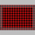 Lumberjack Plaid Fabric Pattern Red Black Deluxe Canvas 18  x 12   18  x 12  x 1.5  Stretched Canvas