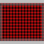 Lumberjack Plaid Fabric Pattern Red Black Deluxe Canvas 24  x 20   24  x 20  x 1.5  Stretched Canvas