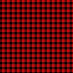 Lumberjack Plaid Fabric Pattern Red Black MOM 3D Greeting Card (8x4) Inside