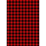 Lumberjack Plaid Fabric Pattern Red Black BOY 3D Greeting Card (7x5) Inside