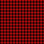 Lumberjack Plaid Fabric Pattern Red Black Twin Hearts 3D Greeting Card (8x4) Inside