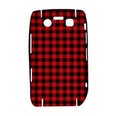 Lumberjack Plaid Fabric Pattern Red Black Bold 9700