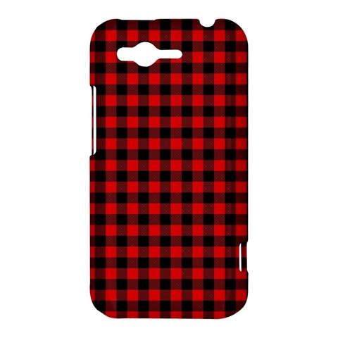 Lumberjack Plaid Fabric Pattern Red Black HTC Rhyme
