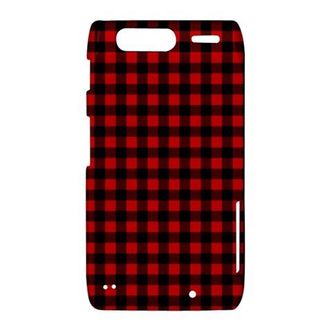 Lumberjack Plaid Fabric Pattern Red Black Motorola Droid Razr XT912