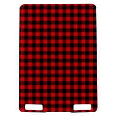 Lumberjack Plaid Fabric Pattern Red Black Kindle Touch 3G