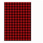 Lumberjack Plaid Fabric Pattern Red Black Small Garden Flag (Two Sides) Front