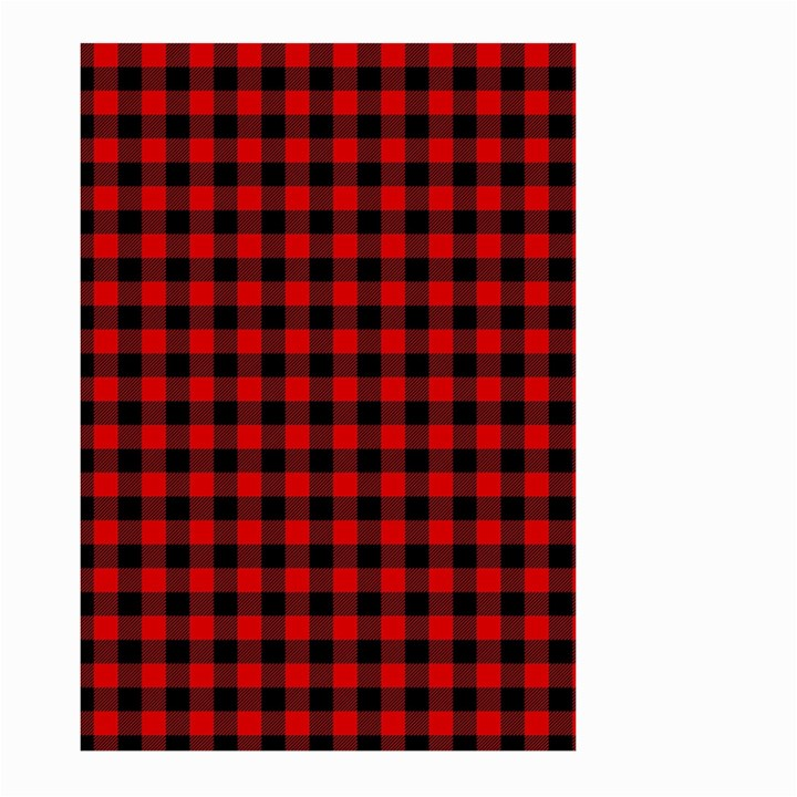 Lumberjack Plaid Fabric Pattern Red Black Large Garden Flag (Two Sides)