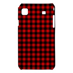 Lumberjack Plaid Fabric Pattern Red Black Samsung Galaxy S i9008 Hardshell Case