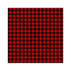 Lumberjack Plaid Fabric Pattern Red Black Acrylic Tangram Puzzle (6  x 6 )