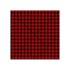 Lumberjack Plaid Fabric Pattern Red Black Acrylic Tangram Puzzle (4  X 4 )