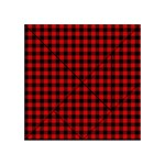 Lumberjack Plaid Fabric Pattern Red Black Acrylic Tangram Puzzle (4  x 4 ) Front